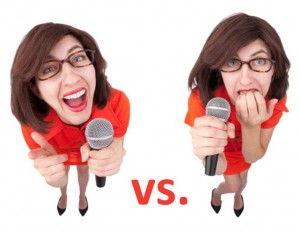 Confident vs. Nervous Speaker