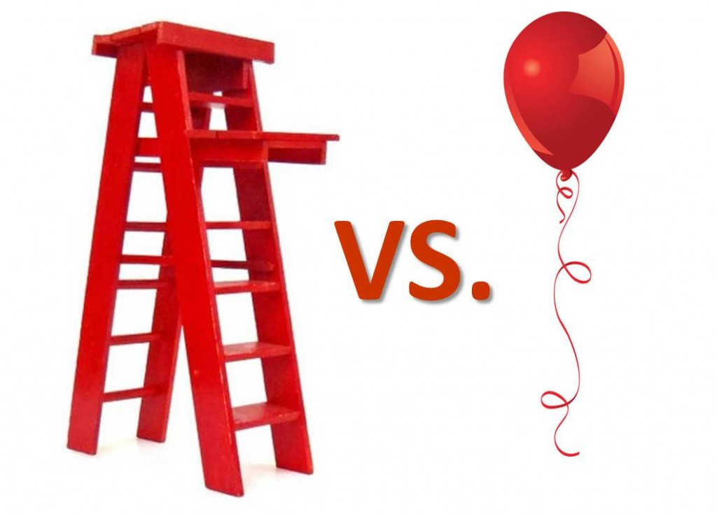 ladder vs balloon