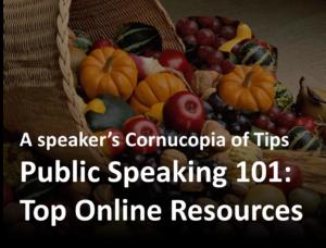 Public Speaking Cornucopia