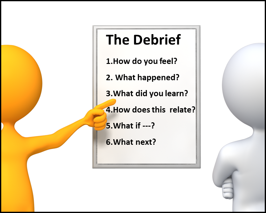 how to plan for debriefing