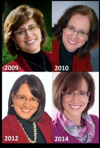 4 headshots of Diane Windingland